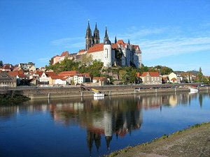 Meissen castle hill with Albrechtsburg and cathedral