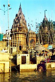 Varanasi temples at the Ganges