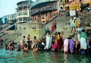 Varanasi ritual bath at the Ghats