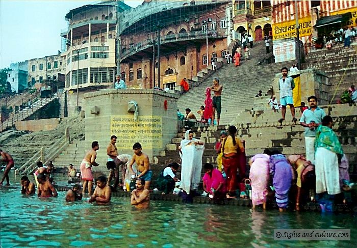 Varanasi (Benares) - at the bank of the Ganges