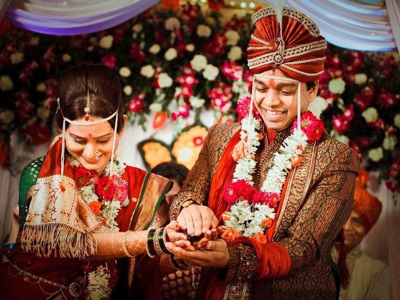 Indian Wedding Bridal Couple