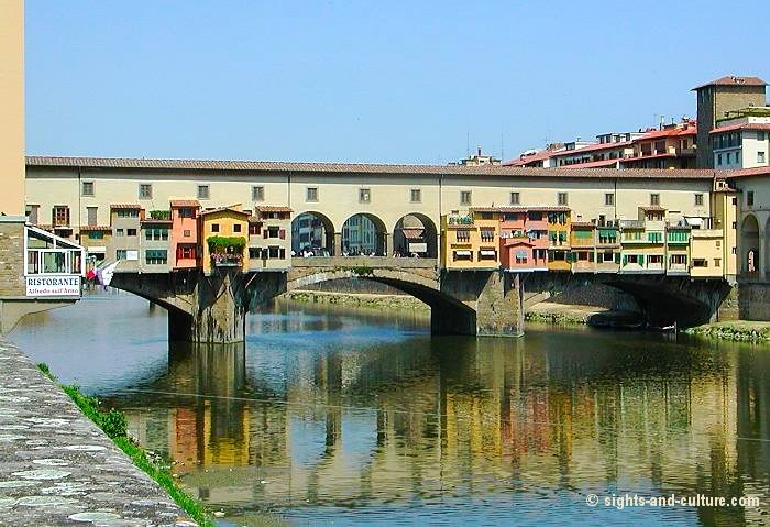 Florence ponte vecchio and view of the historic centre