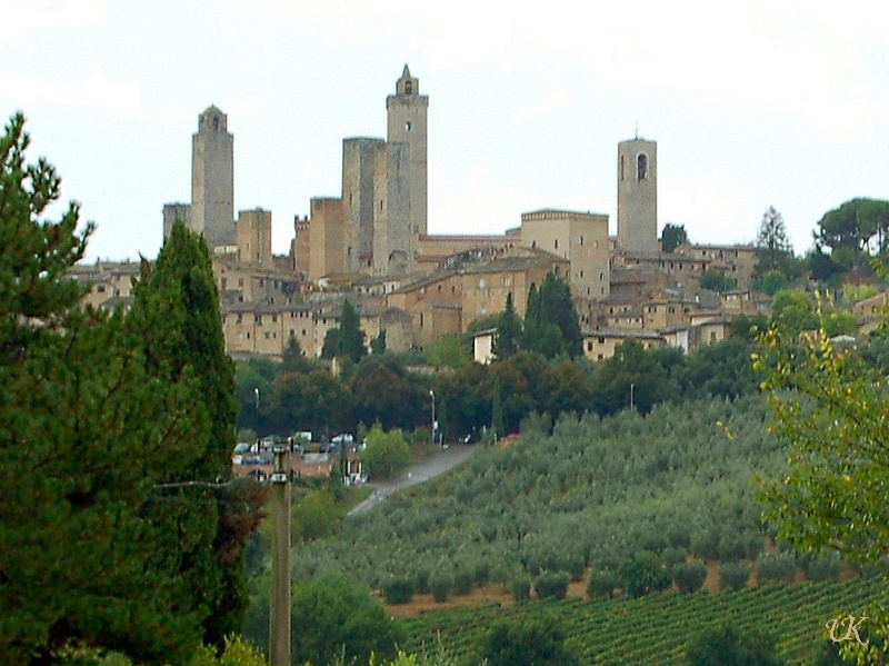 San Gimignano view of the city's skyline