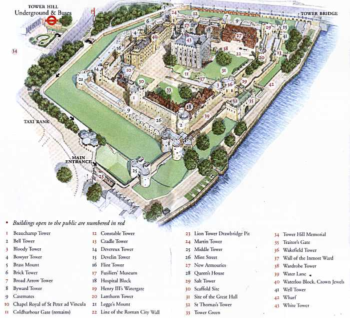 Tower of London – Sights of London Map